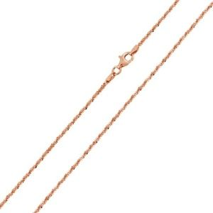 Jewelry - Rose Gold Plated Rock 025 Chain 1.4mm
